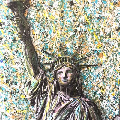Liberty, 36×48 inches on wood