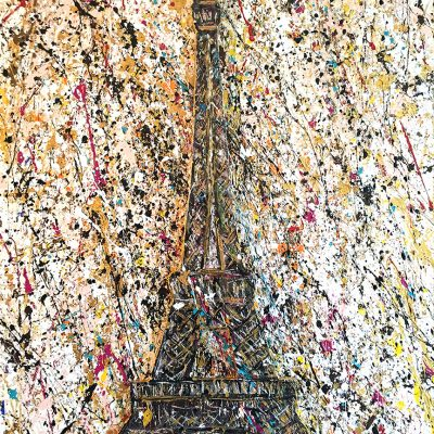 Paris Is Love, 36×48 inches on wood